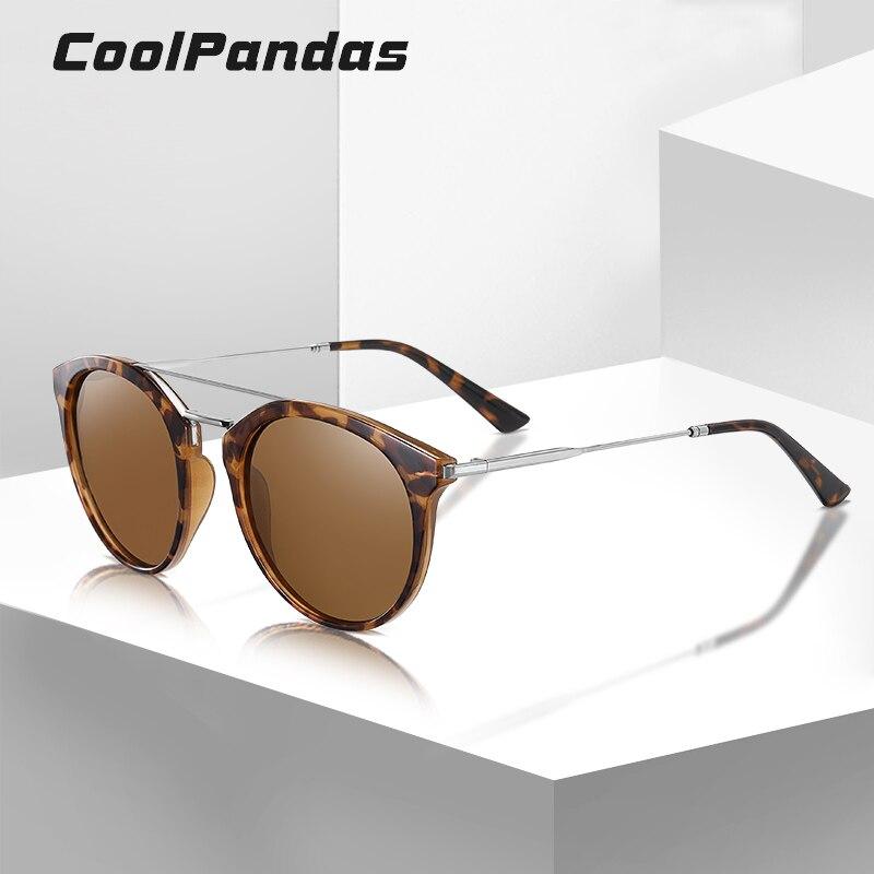 Солнцезащитные очки с поляризацией для мужчин и женщин, винтажные круглые темные очки в оправе TAC, TR90, брендовые дизайнерские очки для вожде...
