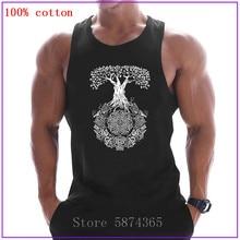 Yggdrasil Tree of LifeTank Tops Men USSR Soviet Union Sleeveless bodybuilding Tank Tops Mens Summer gyms Muscle Vest