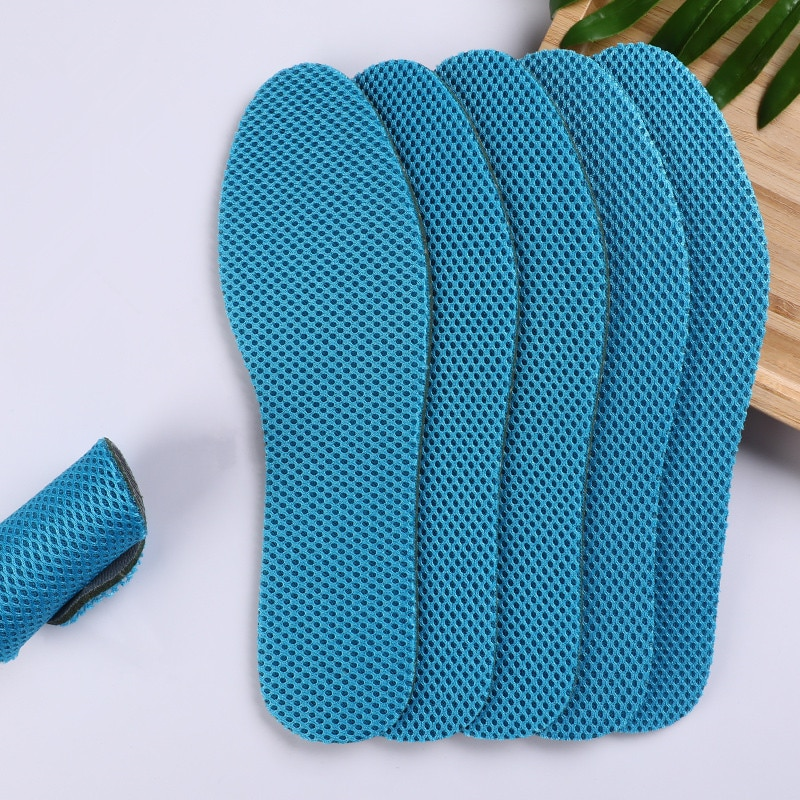 5 pairs health deodorant insoles light weight shoes pad absorb sweat breathable mesh cloth shoe inserts men women Health Cool Deodorant Insoles Breathable Sport Shoes Pad Big Mesh Cloth Wormwood Absorb-Sweat Insert Soles for Unisex