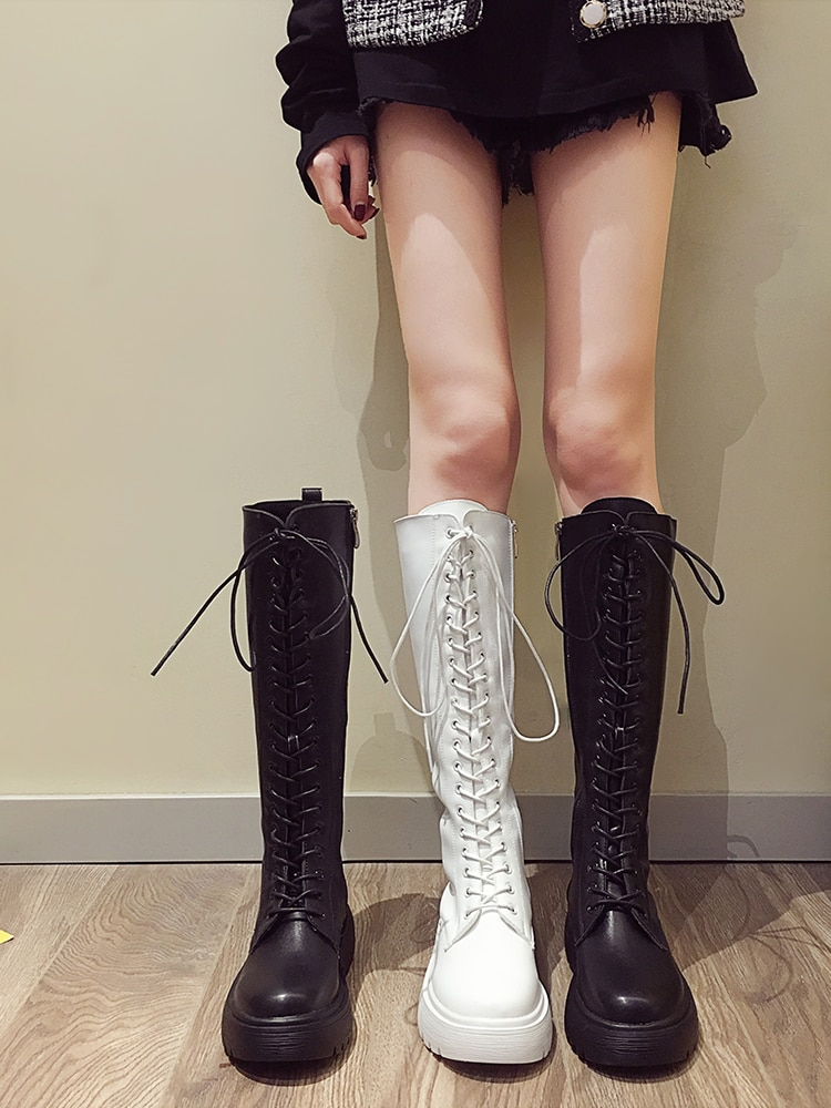 2020 جديد مثير أحذية الحفلات امرأة فوق الركبة الأحذية فستان بناتي تنكري إسفين أحذية النساء مشرق براءات الاختراع والجلود أحذية طويلة حجم 39