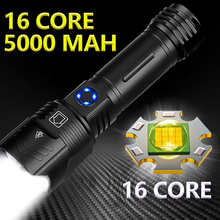 5000mAh Powerful Flashlight XHP199.9 LED XHP50.2 Zoom Torch USB Rechargeable Lamp Waterproof IPX6 5Modes Use 18650/26650 Battery