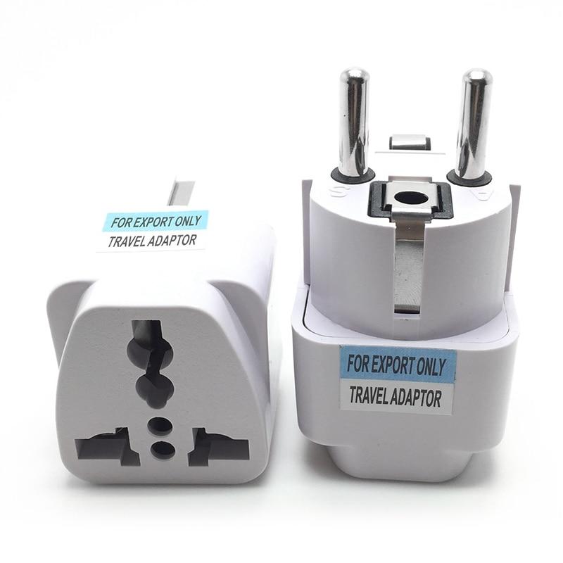 EU Plug Adapter International Universal AU UK US To EU Euro KR Travel Adapter Converter Electrical P