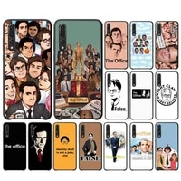 yndfcnb the office tv show what she said phone case for huawei p 8 9 10 20 30 40 pro lite p9 lite 2019