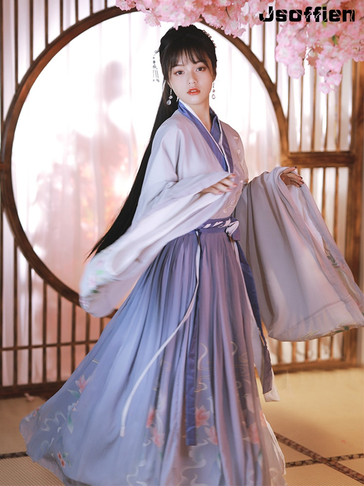 New Arrival Women Traditional Han Dynasty Princess Dress Lady Ancient Hanfu Costume Stage Show Tang Suit Outfit Ming Dynasty фото