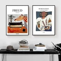 abstract poster prints canvas painting wall art french freud henri matisse english letter pictures for office room nordic decor