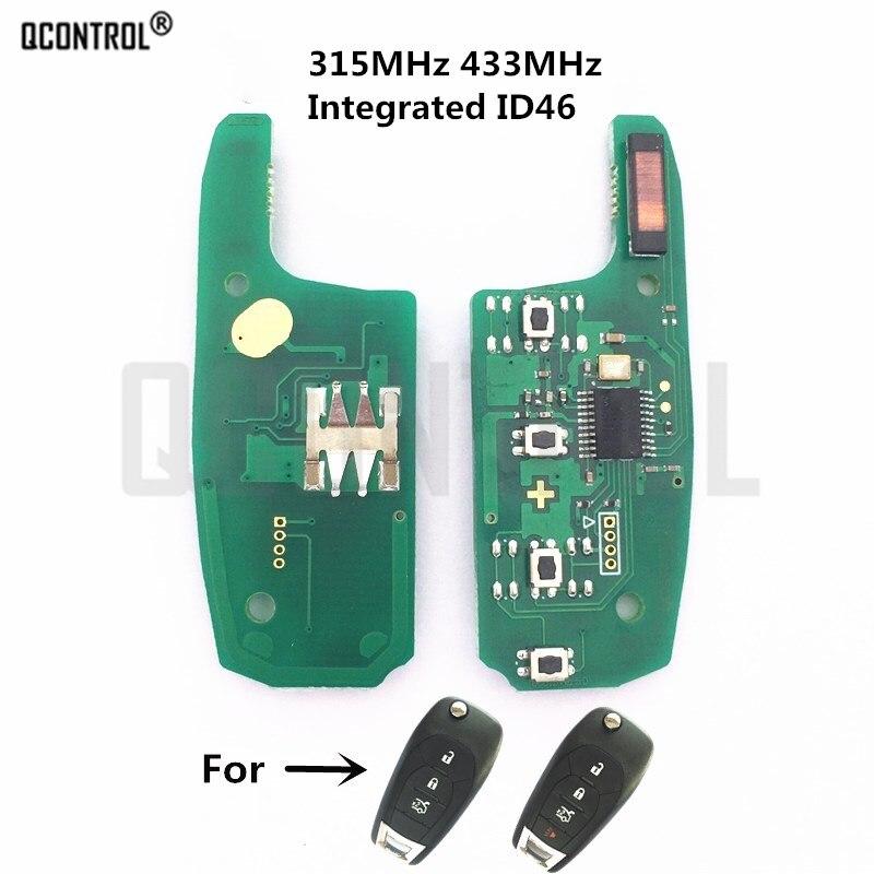 QCONTROL Auto Remote Key Elektronische Leiterplatte für Chevrolet Malibu Cruze Aveo 315 MHz/433 MHz Auto Control Alarm türschloss