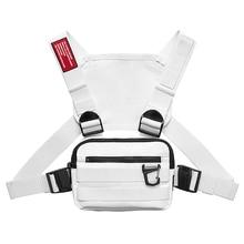 ASRV pecho Rig hombres bolsa Casual función estilo Aire Libre pecho Bolso pequeño chaleco bolsas Streetwear para hombre riñonera