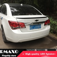 For Chevrolet Cruze Spoiler 2009-2013 Cruze High Quality ABS Material Car Rear Wing Primer Color Rear Spoiler