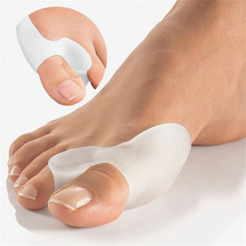 silicone insole orthopedic shoes orthotic insoles thumb valgus protector foot finger toe separator gel inserts pads for shoes Silicone Gel Thumb Corrector Bunion Little Toe Protector Separator Hallux Valgus Finger Straightener Foot Care Relief Pads