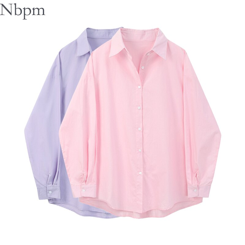 Nbpm 2021 Fashion Women's Blouse Spring Long Sleeve Top Tunic Clothes Female Blusas Mujer Elegant Bl