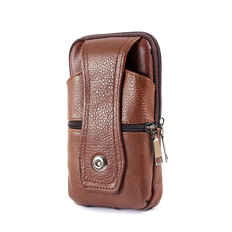 Soft PU Leather Men's Fanny Waist Packs Mobile Phone Pouch Bags Sports Travel Wallet Portable Multi-layer Purse Belt Bum Bag luxury brand waist packs women crocodile pattern pu leather fit 5 5 inches phone funny bags ladies travel money wallet belt bag