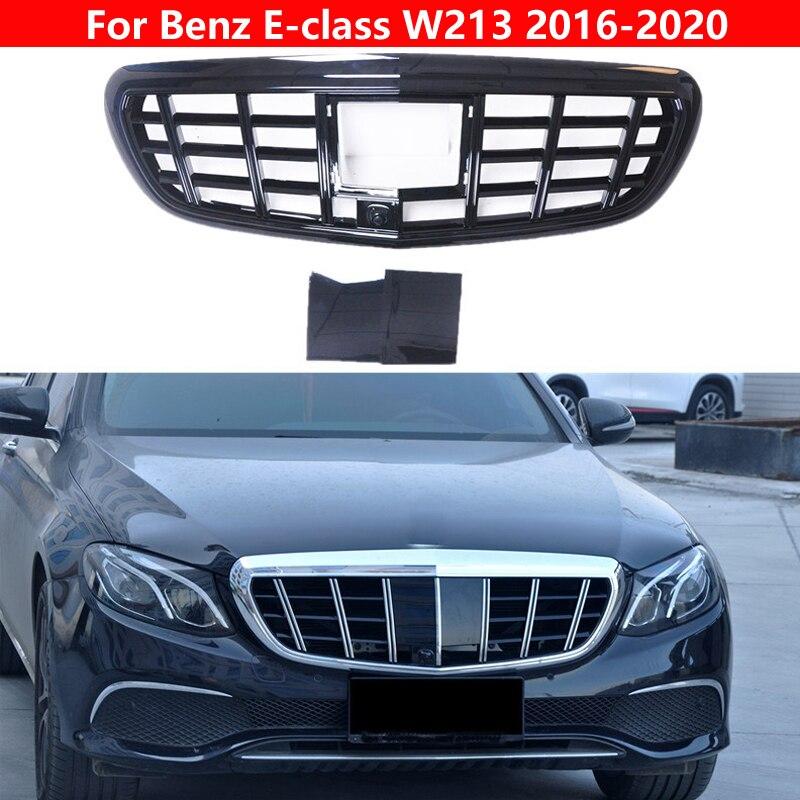 مصد أمامي من النوع الأوسط بتصميم أتوماتيكي لسيارة Mercedes-Benz E-class 2016-2020 W213 to Maybach مصد أمامي من مادة ABS بشبكة رأسية