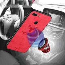 Hot Doek Textuur Herten 3D Soft TPU Magnetische Auto Case Voor Huawei P20 Pro Ingebouwde Magneet Plaat Case Voor P30 pro P20 Lite Cover Voor Huawei Mate 20 10/Mate 20 10 Lite/Mate 10 20 Pro Case