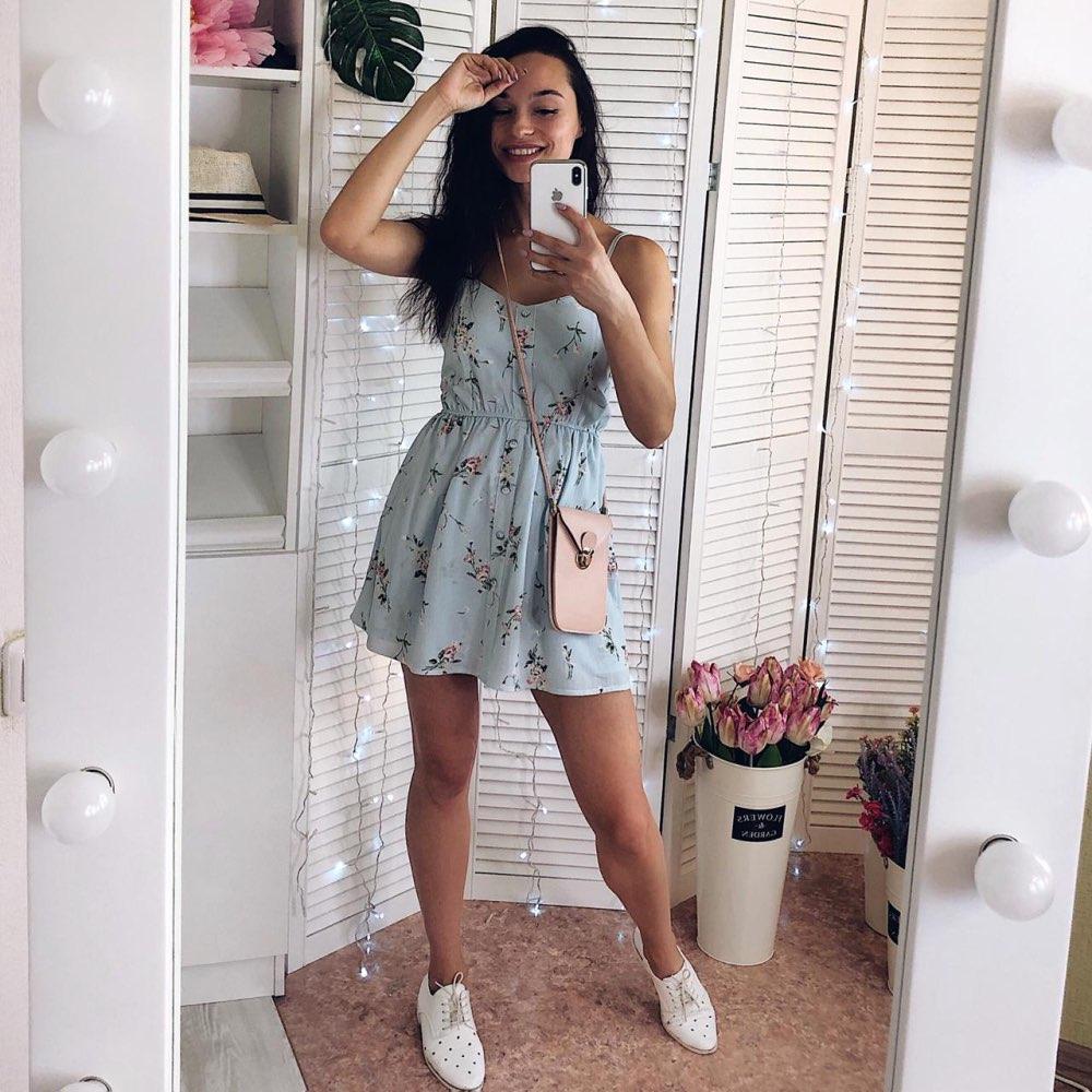 2019 nuevo vestido de mujer dulce verano Casual moda dibujo bohemio Correa fina sin mangas vestido negro para mujeres