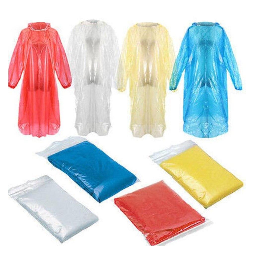 Дождевик одноразовый для мужчин и женщин, Непромокаемая куртка-пончо, 1 шт.