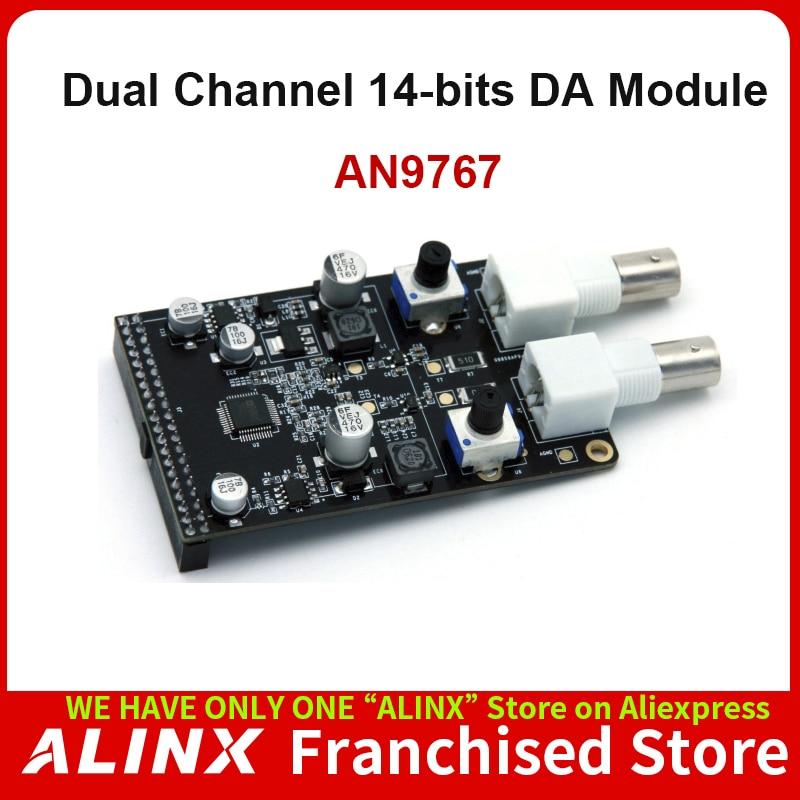 ALINX AN9767: Dual Channel 14-bits DA Module for FPGA Board