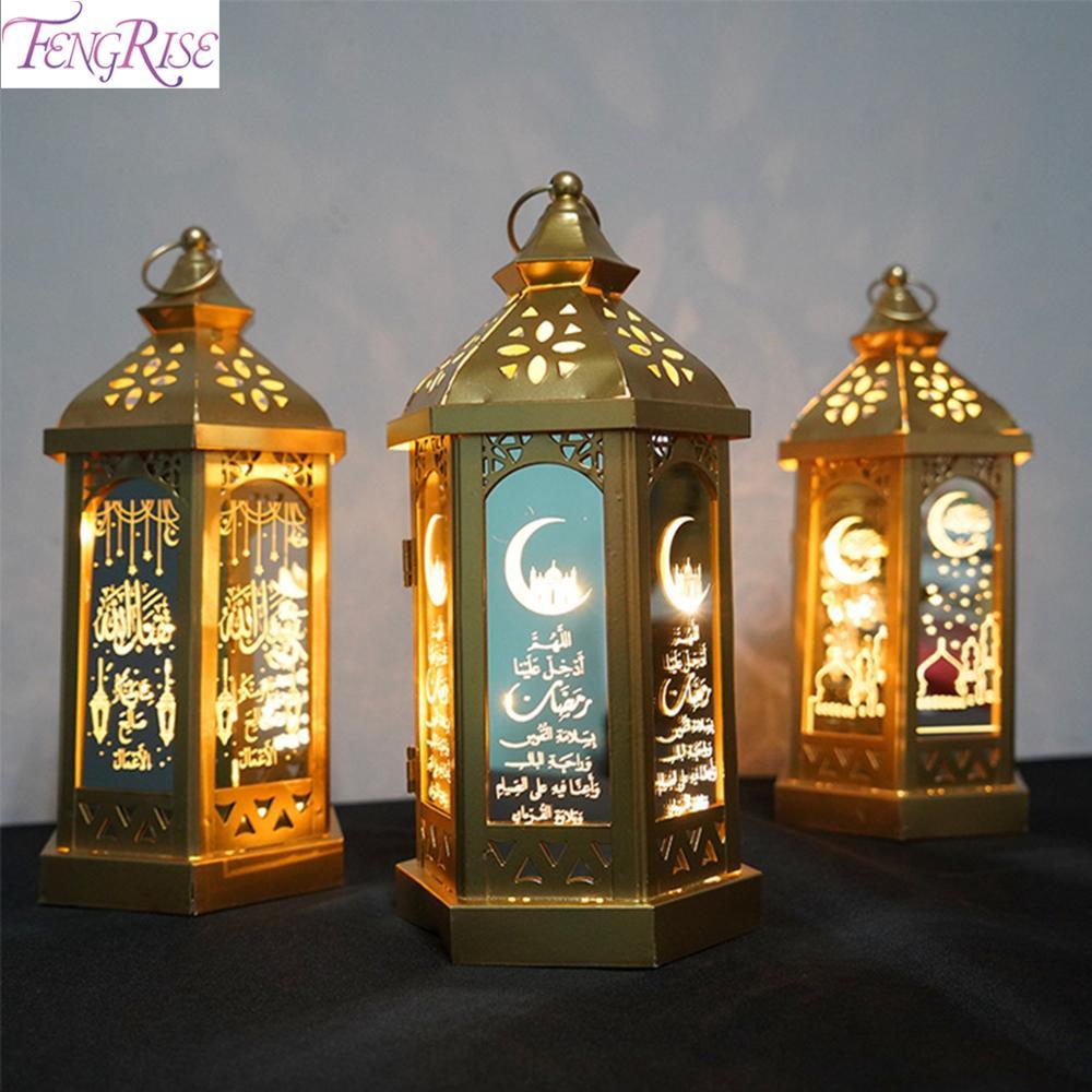 Eid Mubarak Ramadán kareem 2020 nuevo Decoración de Ramadán para la ayuda nocturna del hogar Feliz Eid Mubarak islámico musulmán adornos fiestas