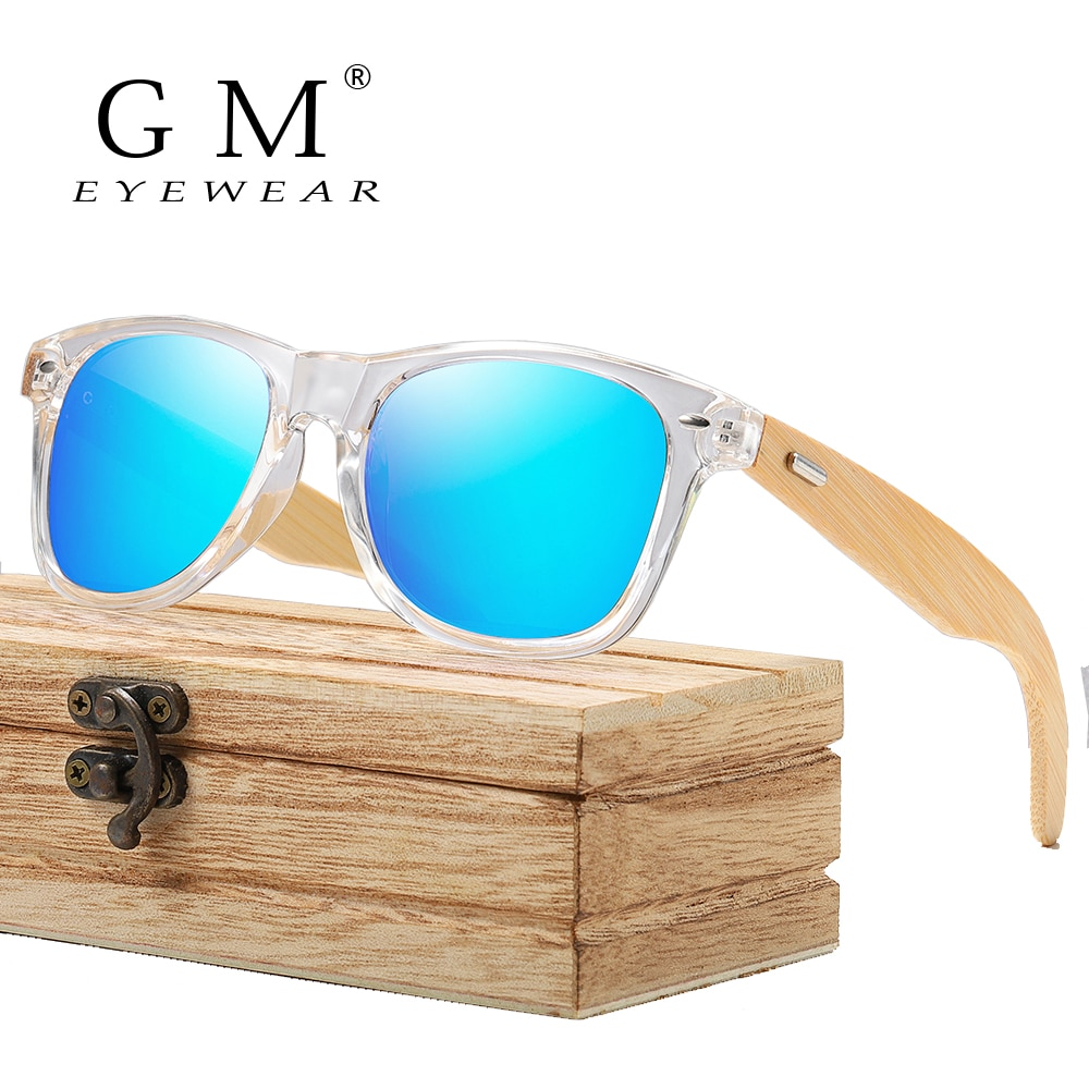 GM Wooden Sunglasses Men Women Bamboo Sunglasses Male Female Travel Goggles Sun Glasses Vintage Wooden Temple Eyeglasses