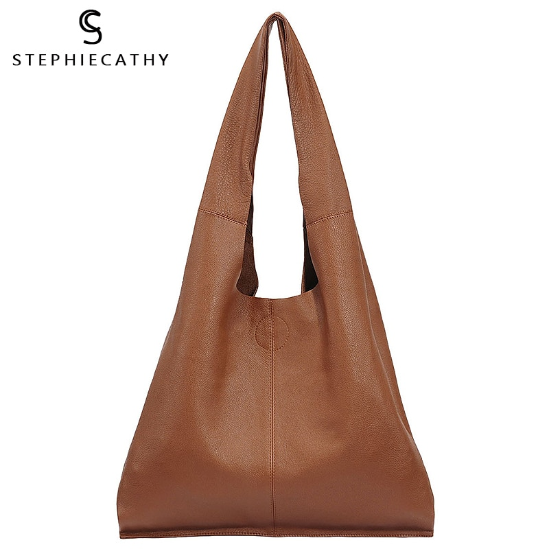 SC-حقيبة يد جلدية أصلية كبيرة للنساء ، حقيبة حمل كبيرة ، حقيبة تسوق غير رسمية عتيقة ، حقيبة كتف ، حقيبة كتف