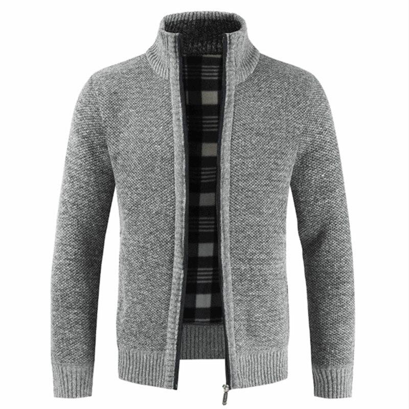 NEGIZBER 2020 Autumn Winter New Men's Jacket Slim Fit Stand Collar Zipper Jacket Men Solid Cotton Thick Warm Jacket Men