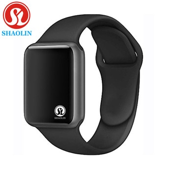 Bluetooth Smart Watch Series 6 Stainless Steel Shining Case 1:1 42mm SmartWatch for iOS Android Heart Rate Pedometer(Red Button)