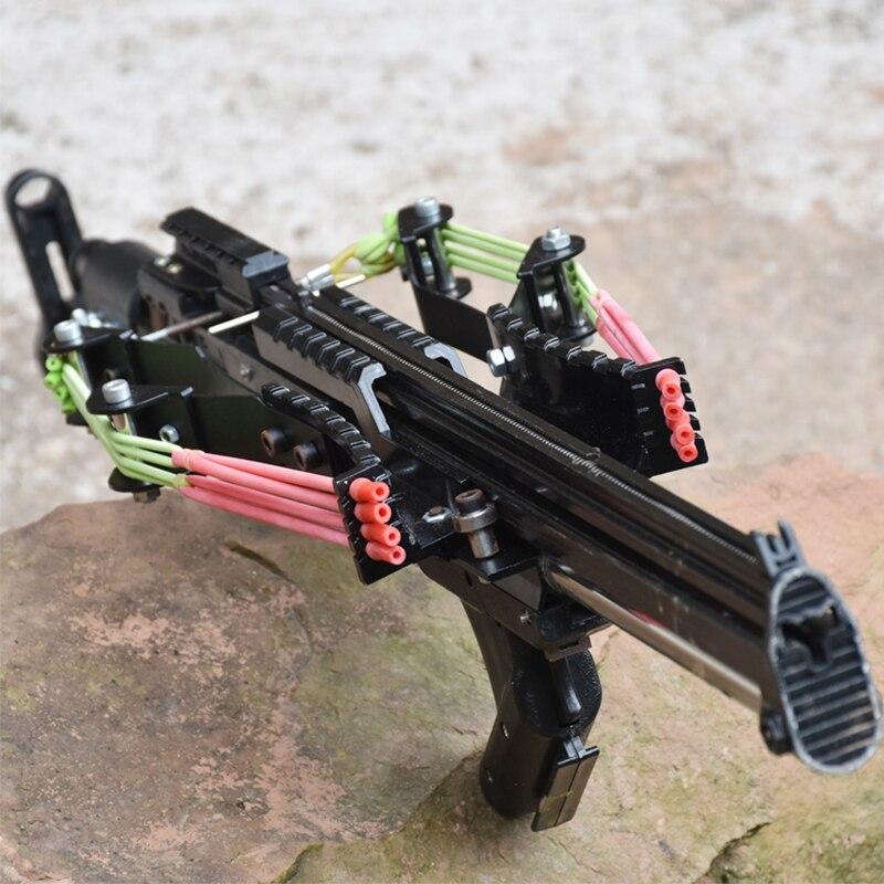 الذئب الملك قوية مقلاع بندقية معدنية الصيد المنجنيق اطلاق النار المستمر 40-جولات الذخيرة والسهم للصيد وإطلاق النار