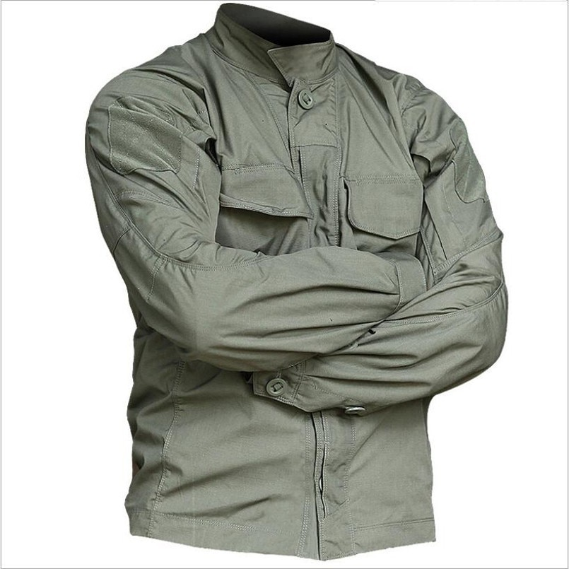 Newest Tactical Long Sleeve Shirt Military Tactical Soldiers Uniform Waterproof Multi-Pockets Outdoor Shirts Camouflage Clothes