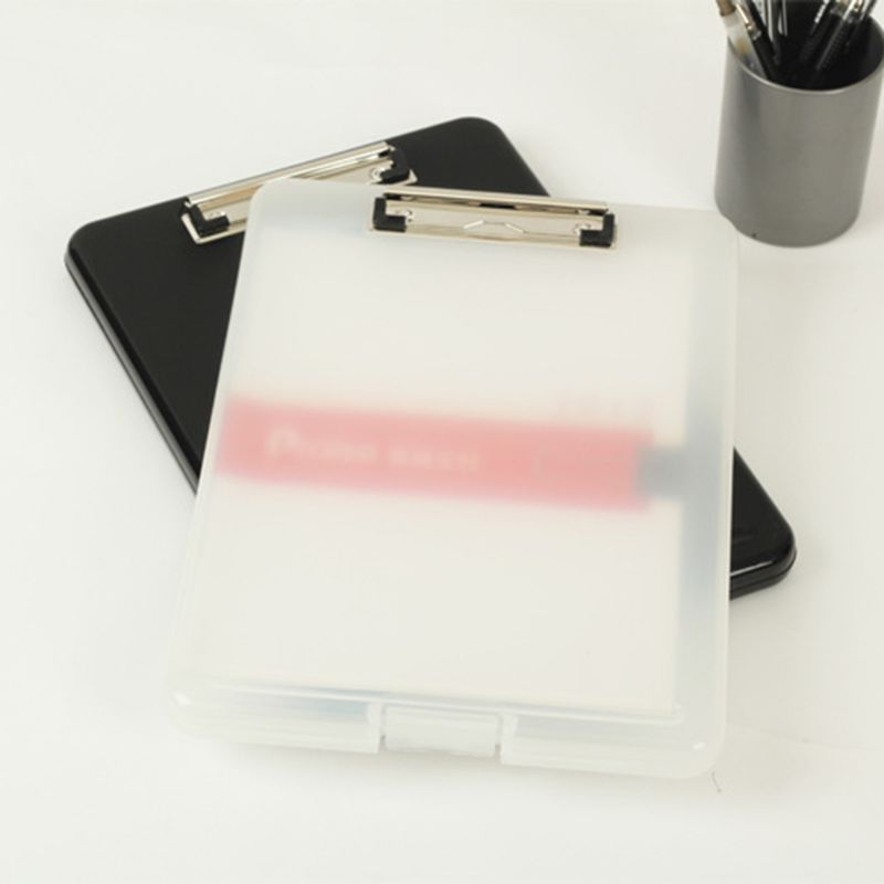 A4 Plastic Storage Clipboard File Box Case Document File Folder Clipboard Office