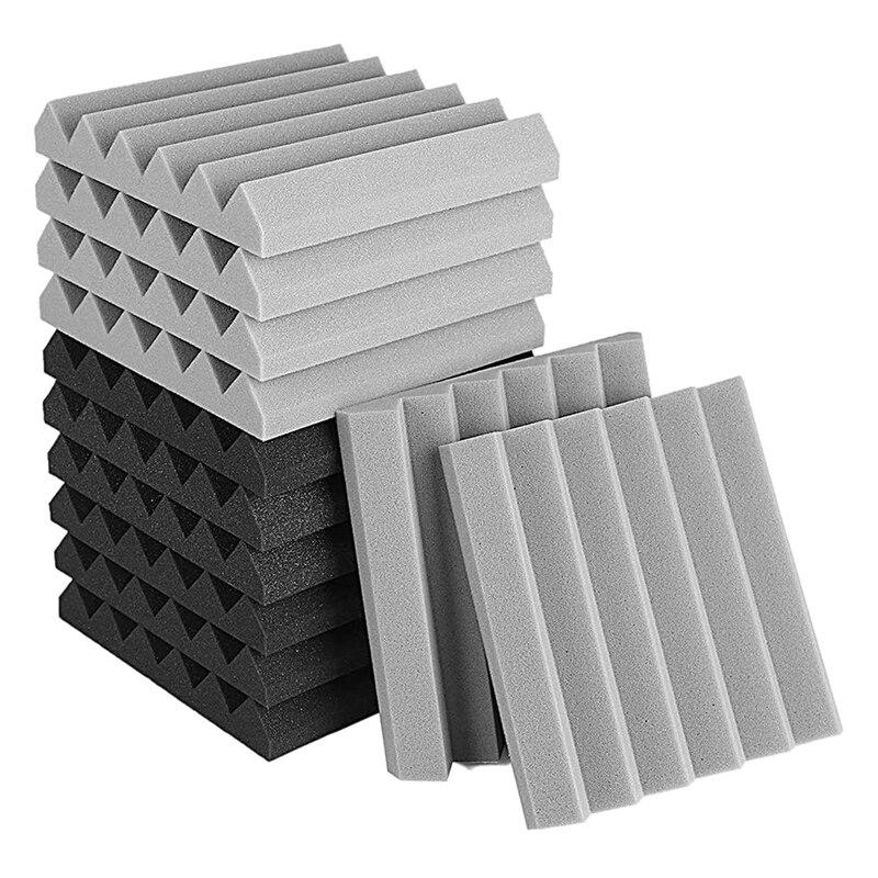 12 Pcs Acoustic Foam Panel, Sound Insulation Pad,Sound Insulation Foam Panel,Studio Foam,Sound Insulation Foam,5X30X30cm