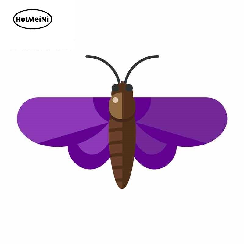 HotMeiNi 13cm x 8,6 cm Purple Butterfly Cartoon Car Stickers vinilo JDM parachoques tronco camión gráficos parabrisas parachoques ventanas