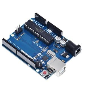 1 Set UNO R3 Official Box ATMEGA16U2+MEGA328P Chip For Arduino UNO R3 Development board + USB CABLE