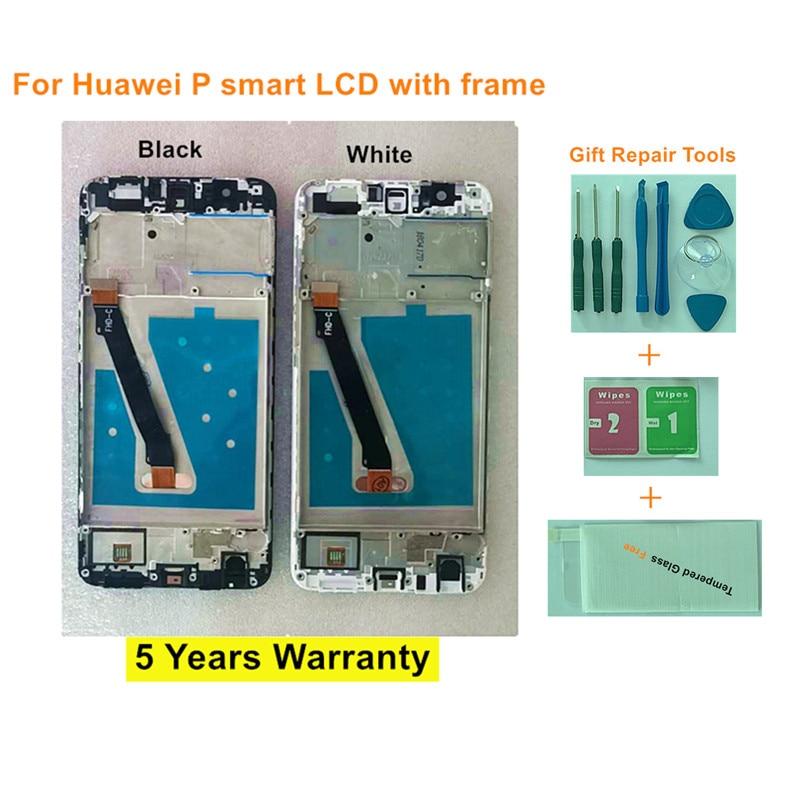 Pantalla LCD para Huawei P Smart MONTAJE DE digitalizador con pantalla táctil para Huawei P Smart LCD con marco FIG LX1 L21 L22 reemplazo de pantalla