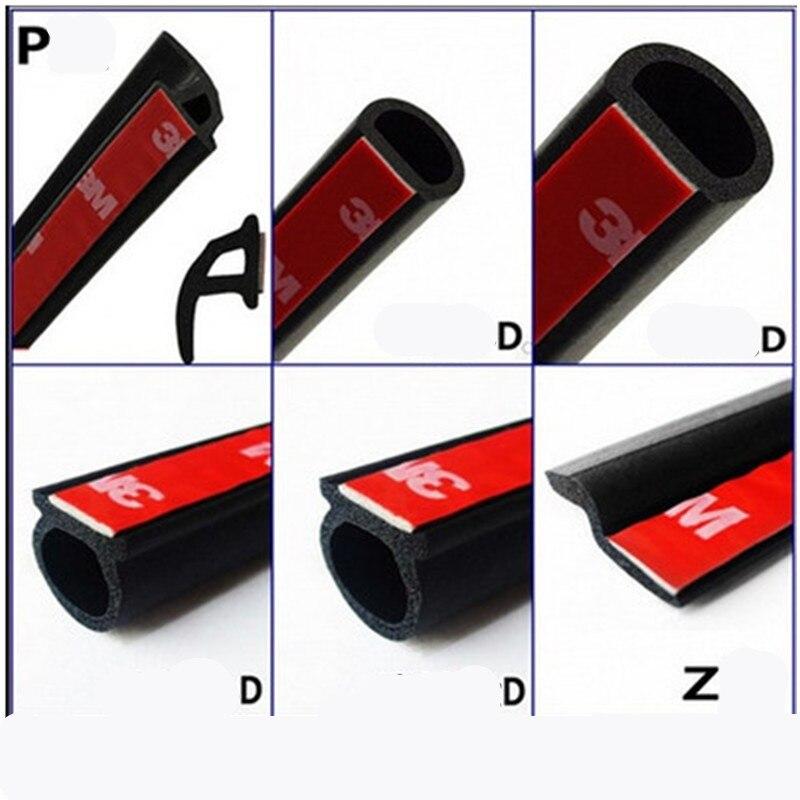 Резиновая лента для уплотнения дверей автомобиля, водонепроницаемая лента для звукоизоляции 6 м, большой размер D, тип Z, тип P, звукоизоляция, 6 метров, автостайлинг