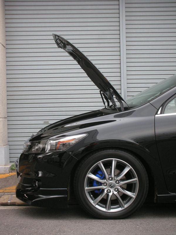 for 2006-2014 Honda Stream RN8 Mini Van Front Bonnet Hood Modify Gas Struts Carbon Fiber Spring Damper Lift Support Absorber