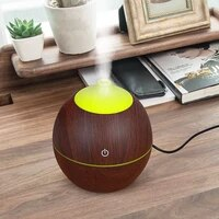 KBAYBO 130ml Arome huile essentielle diffuseur ultrasonique DUSB bois Humidificateur Dair avec Grain De Bois 7 LED A Couleur Changeante Des Lumieres POUR La Maison