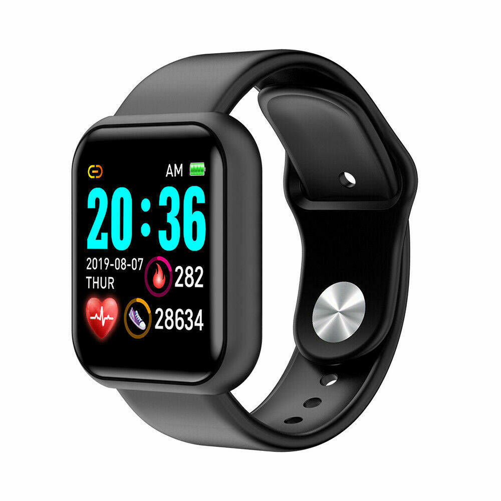 D20 Pro Smart Watch Y68 IP67 Waterproof Bluetooth Fitness Tracker Sports Watch Heart Rate Wristband