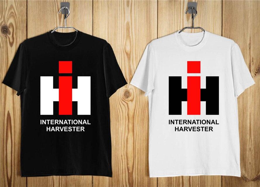 Ih International Harvester Trucks Мужская футболка с логотипом компании черно белая S 2Xl забавная