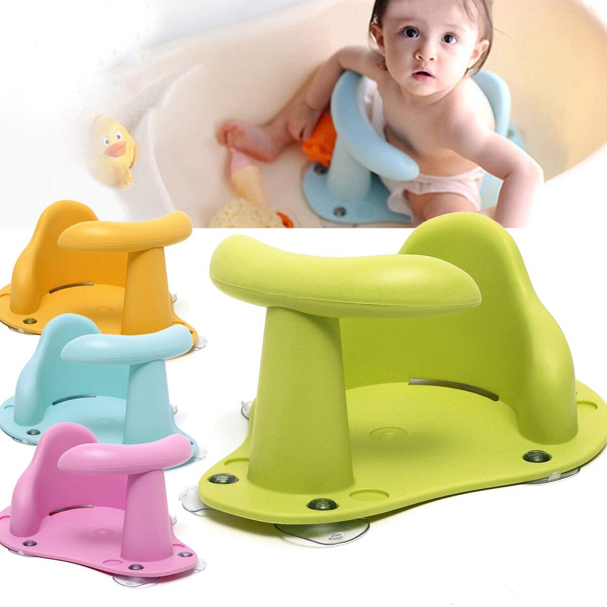Tub Seat Baby Bathtub Pad Mat Chair Safety Security Anti Slip Baby Care Children Bathing Seat Washing Toys 37.5x 30.5x 15cm
