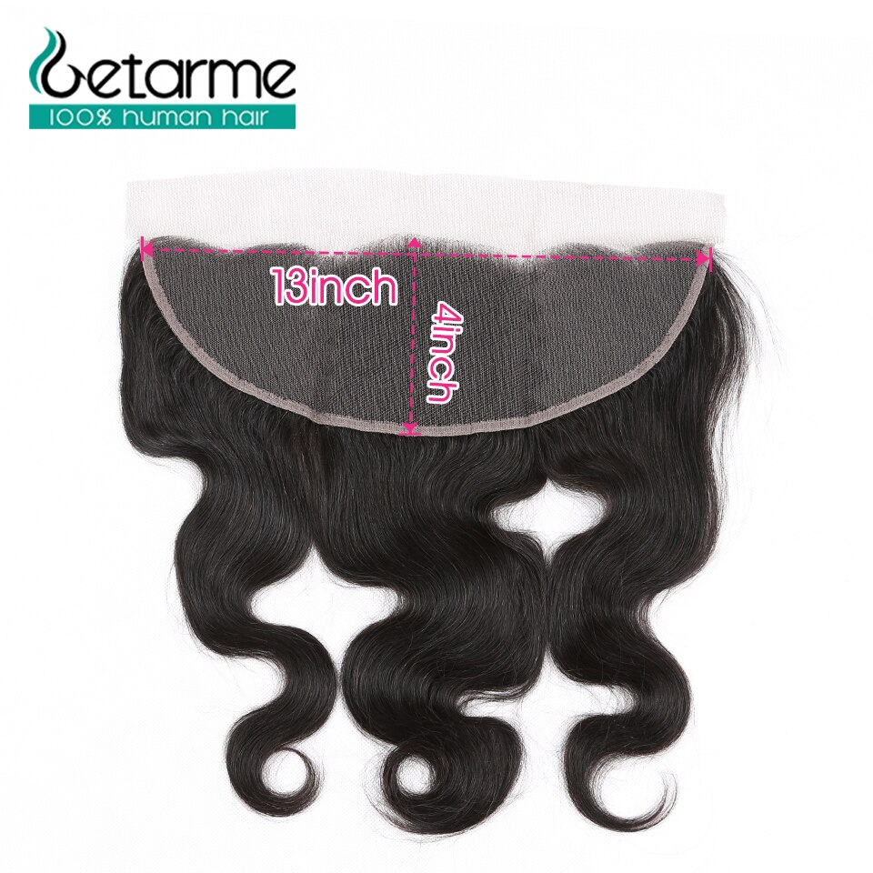 Getarme Brazilian Remy Hair Body13x4Lace Frontal with Baby Hair Ear to Ear Lace Frontal Closure 100% Human Hair Extensions