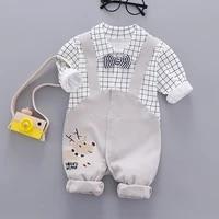 baby clothes autumn and winter new long sleeved mens gentleman dress newborn jumpsuit romper