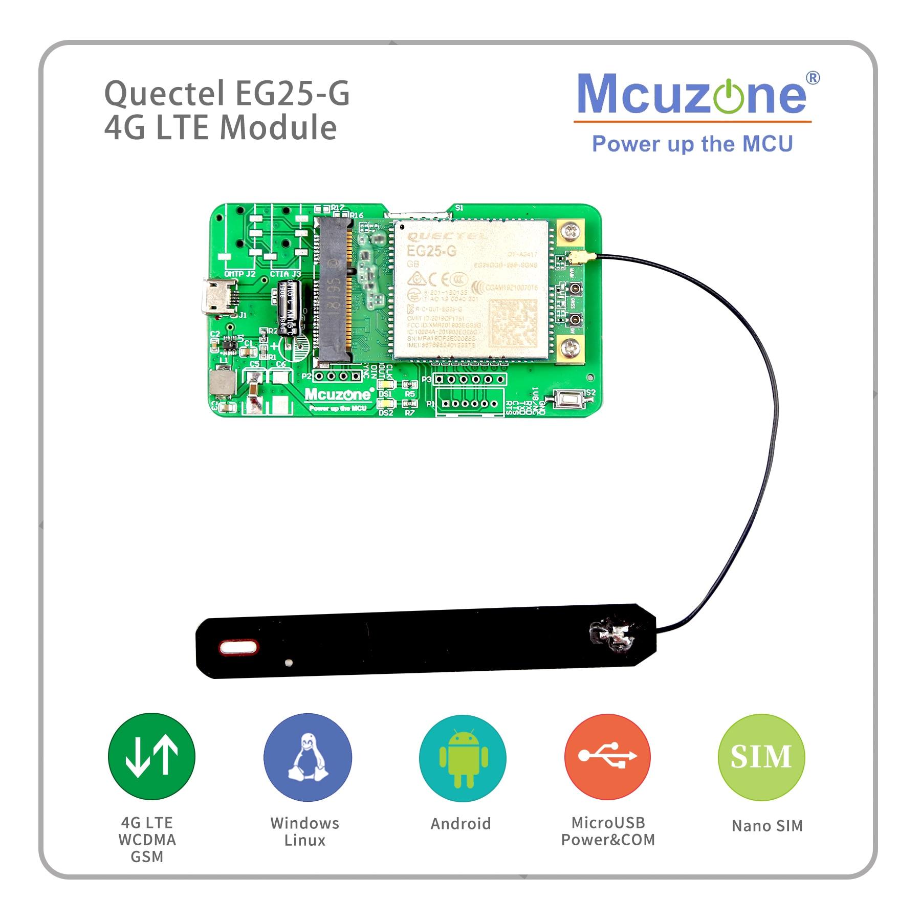 Quectel EG25-G глобальная полоса 4G LTE WCDMA GSM GPRS, для Raspberry Pi Rockchip ARM Android Linux Wince Windows Quectel EG25