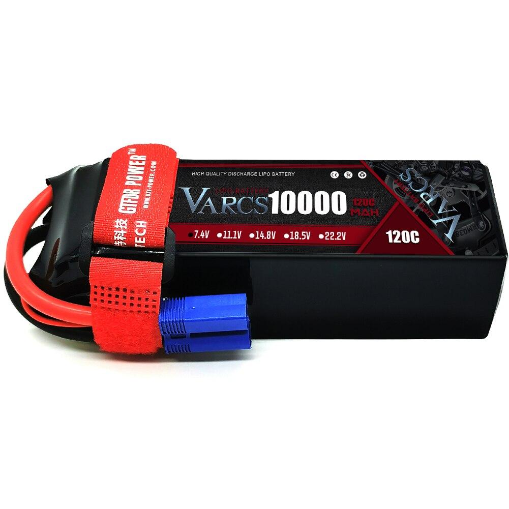 VARCS 4S Lipo Battery 14.8V 10000mAh 100C 200C Deans/T XT90 EC5 XT90 for RC 1/8 1/10 Car Truck Tank RC Models XXMAX 8S Arrama 8S enlarge