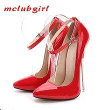 MCLUBGIRL 2020 16 Cm Heels 여성 섹시한 펌프스 신발 슈퍼 하이힐 Point Toe Pumps Shoes 인기있는 슈퍼 하이힐 펌프스 WZ
