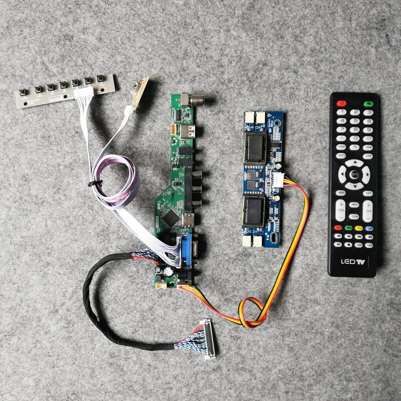 VGA + AV + USB LVDS 30-دبوس LCD عرض العالمي تحكم محرك مجلس لوحة DIY كيت 1400*1050 ل M201P1-L01/M201P1-L03 4CCFL