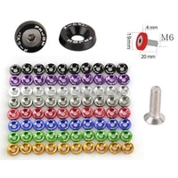 10 pcs fender washer fit m6 screw hole bumpers engine dress up license plate aluminum washers with bolts