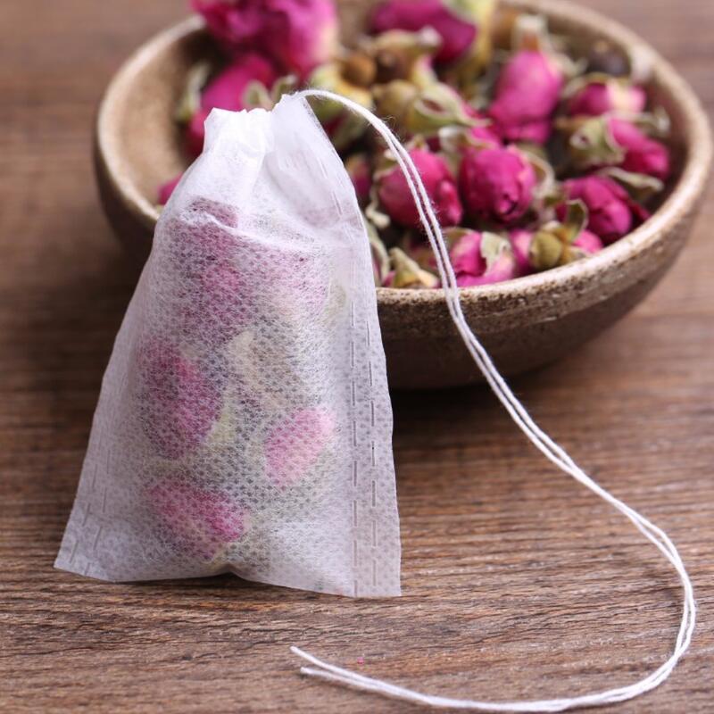 أكياس الشاي 9x10 CM فارغة المعطرة أكياس الشاي مع سلسلة شفاء ختم ورق فلتر ل عشب فضفاض الشاي شحن مجاني LX8264