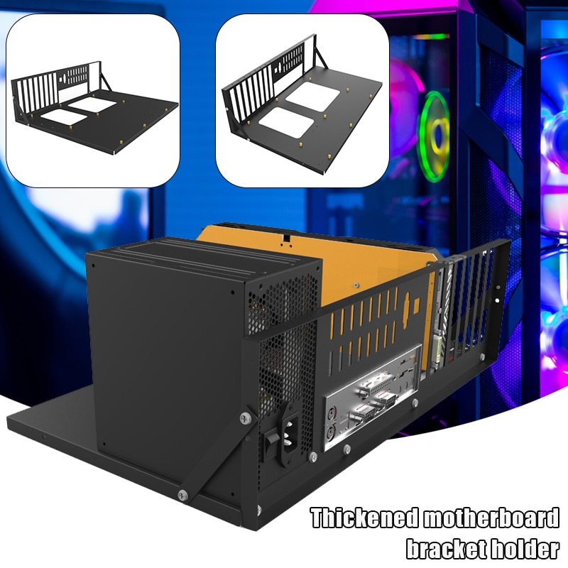 mining-frame-open-chassis-frame-thickened-motherboard-bracket-cases-fixing-frame-mining-rig-case-frame-computer-cases-towers