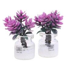 1pc Mini Mini kwiaty roślina doniczkowa lalka wystrój domu 112 ogród do domku dla lalek ozdoby