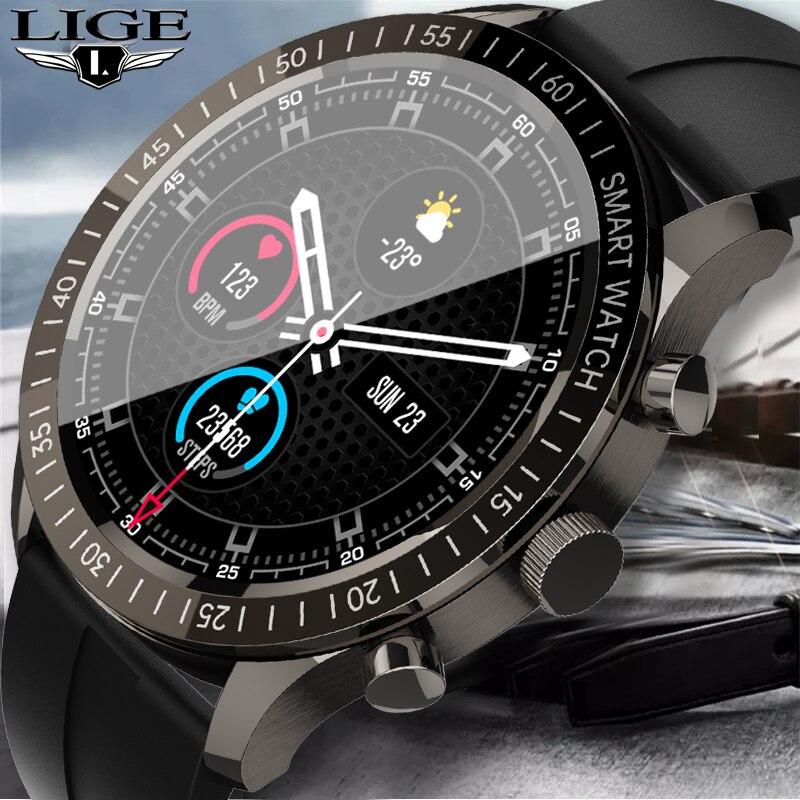 LIGE 2021 New Luxury Smart Watch Men Women Heart Rate Activity Tracker Information Reminder Sport Wa