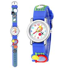 Tennis Sports Pattern Relief Student Children Gift Cute Plastic Quartz Watch